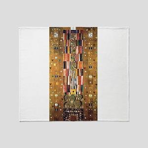 Gustav Klimt End of the Wall Throw Blanket
