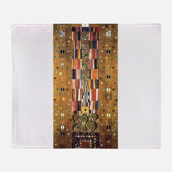Gustav Klimt End of the Wall Throw Blanket