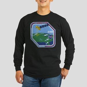 Landsat 7 Program Logo Long Sleeve Dark T-Shirt