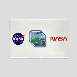 Landsat 7 Program Logo Rectangle Magnet Magnets