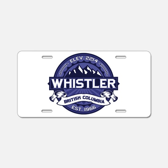 Whistler Midnight Aluminum License Plate