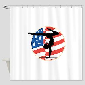 usa gymnastics copy Shower Curtain