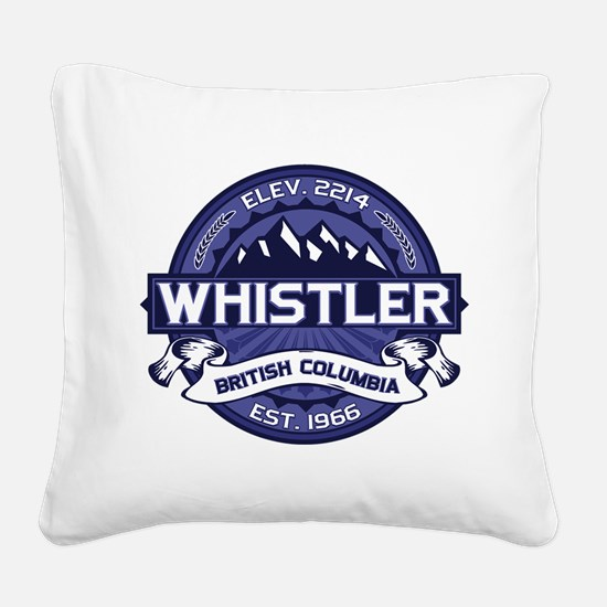 Whistler Midnight Square Canvas Pillow
