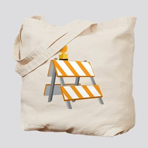 Construction Barrier Tote Bag