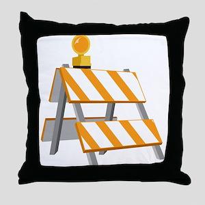 Construction Barrier Throw Pillow