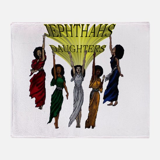 Jephthas Daughters Throw Blanket