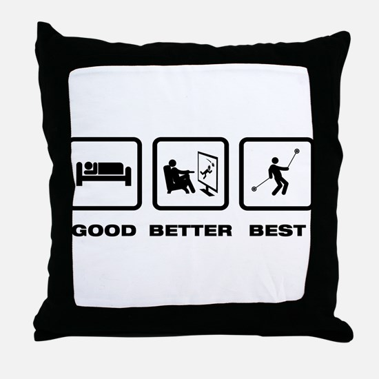 Yo-Yo Player Throw Pillow