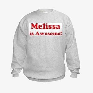 Melissa is Awesome Kids Sweatshirt