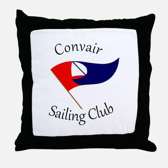 Convair Sailing Club Throw Pillow