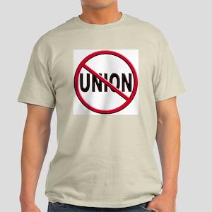 Anti-Union Light Colored T-Shirt
