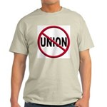 Anti-Union Light Colored T-Shirt