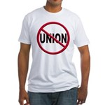 Anti-Union Fitted T-Shirt