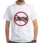 Anti-Union White T-Shirt