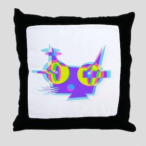 p u s s y Q (3D) Throw Pillow