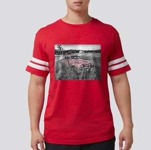 vintage pink car Mens Football Shirt