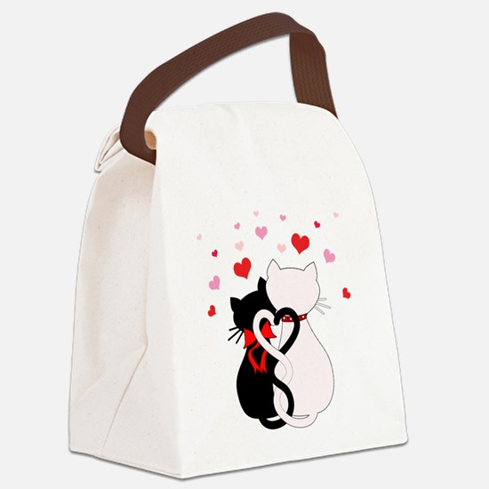 Love Cats Canvas Lunch Bag