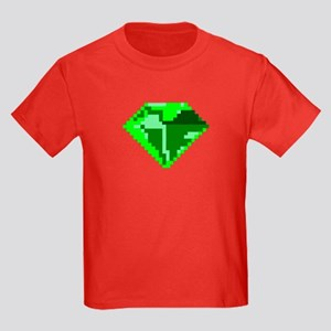 Green 8-bit Emerald Pixel Art T-Shirt