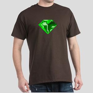Green 8-bit Emerald Pixel Art T-Shirt