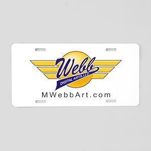 Logo Wings Black URL Aluminum License Plate