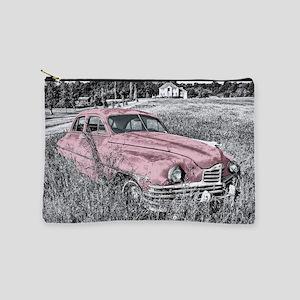 vintage pink car Makeup Pouch