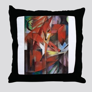 Franz Marc The Foxes Throw Pillow