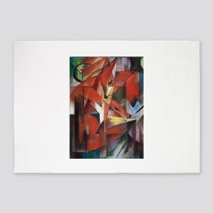 Franz Marc The Foxes 5'x7'Area Rug