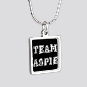 Team Aspie Silver Square Necklace