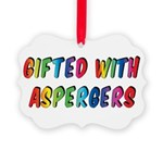 Gifted with Aspergers Ornament
