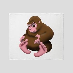 Baby Bigfoot Throw Blanket