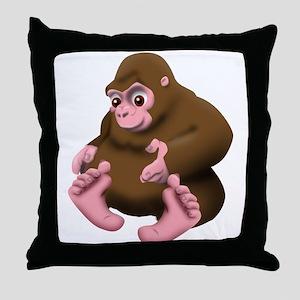 Baby Bigfoot Throw Pillow