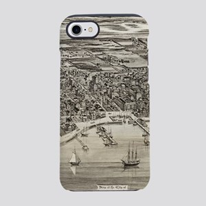 Vintage Pictorial Map of St. A iPhone 7 Tough Case