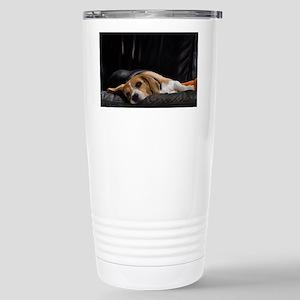 Lazy Beagle - Stainless Steel Travel Mug