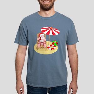 beach santa claus Mens Comfort Colors Shirt