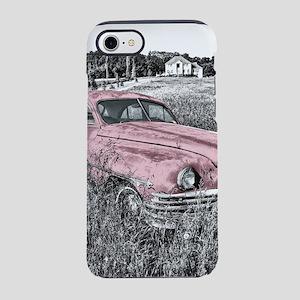 vintage pink car iPhone 7 Tough Case