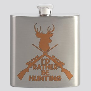 Rather Be Hunting Flask