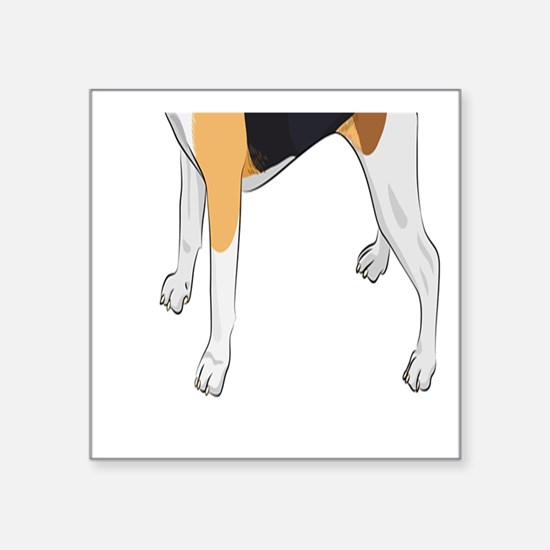 Vector Sketch Dog Beagle Breed - Square Sticker 3