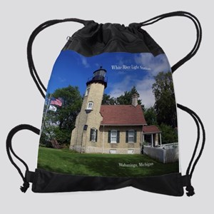White River Light Station Drawstring Bag