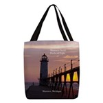 Manistee North Breakwater Light Polyester Tote Bag