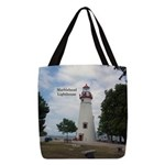 Marblehead Lighthouse Polyester Tote Bag