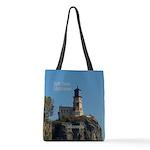 Split Rock Lighthouse Polyester Tote Bag