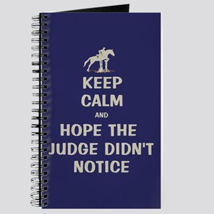 Funny Keep Calm Horse Show Journal
