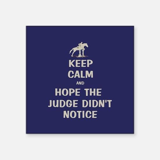 Funny Keep Calm Horse Show Sticker