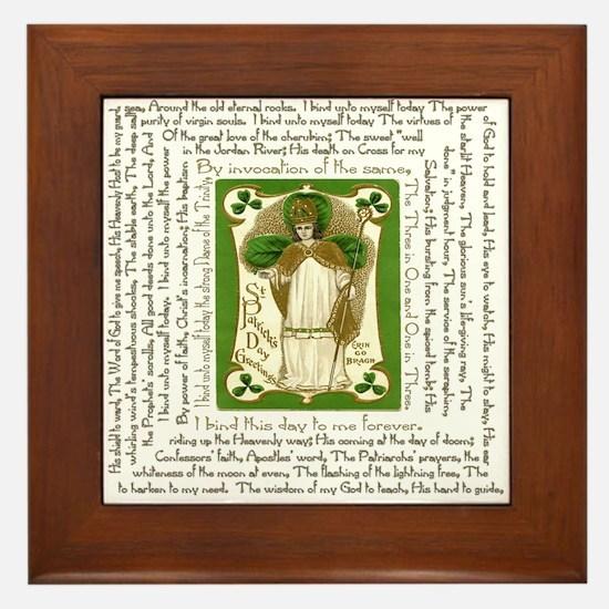 St. Patrick's Breastplate Framed Tile