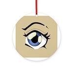 Manga Eye Round Ornament
