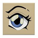 Manga Eye Tile Coaster