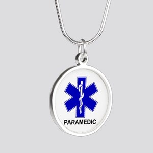Blue Star of Life - PARAMEDIC Silver Round Nec