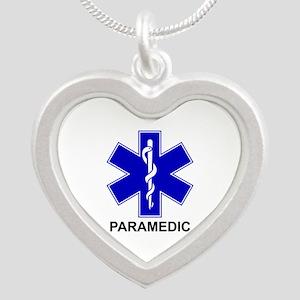 Blue Star of Life - PARAMEDIC Silver Heart Nec
