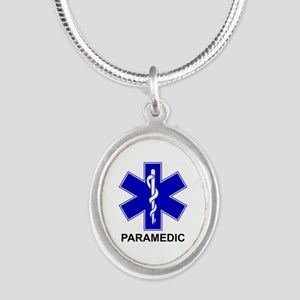 Blue Star of Life - PARAMEDIC Silver Oval Neck