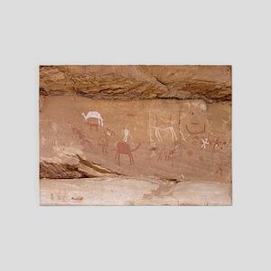 Animal pictographic frieze, Libya - 5'x7' Area Rug