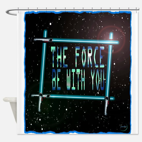 the force be with you Shower Curtain